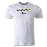 Colombia 2014 FIFA World Cup Brazil(TM) Men's Premium Palm T-Shirt (White)