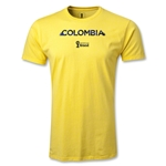 Colombia 2014 FIFA World Cup Brazil(TM) Men's Premium Palm T-Shirt (Yellow)