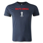 South Korea 2014 FIFA World Cup Brazil(TM) Men's Fashion Core T-Shirt (Navy)