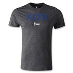 South Korea 2014 FIFA World Cup Brazil(TM) Men's Premium Elements T-Shirt (Dark Gray)