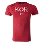 South Korea 2014 FIFA World Cup Brazil(TM) Men's Fashion Elements T-Shirt (Heather Red)