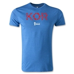 South Korea 2014 FIFA World Cup Brazil(TM) Men's Fashion Elements T-Shirt (Heather Royal)