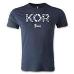 South Korea 2014 FIFA World Cup Brazil(TM) Men's Fashion Elements T-Shirt (Navy)