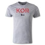 South Korea 2014 FIFA World Cup Brazil(TM) Men's Fashion Elements T-Shirt (Gray)