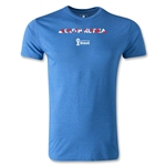 South Korea 2014 FIFA World Cup Brazil(TM) Men's Fashion Palm T-Shirt (Heather Royal)