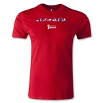 South Korea 2014 FIFA World Cup Brazil(TM) Men's Fashion Palm T-Shirt (Red)
