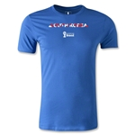 South Korea 2014 FIFA World Cup Brazil(TM) Men's Fashion Palm T-Shirt (Royal)