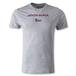 South Korea 2014 FIFA World Cup Brazil(TM) Men's Fashion Palm T-Shirt (Gray)