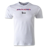 South Korea 2014 FIFA World Cup Brazil(TM) Men's Fashion Palm T-Shirt (White)