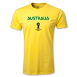 Australia 2014 FIFA World Cup Brazil(TM) Men's Premium Core T-Shirt (Yellow)