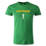 Australia 2014 FIFA World Cup Brazil(TM) Men's Premium Core T-Shirt (Green)
