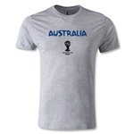 Australia 2014 FIFA World Cup Brazil(TM) Men's Premium Core T-Shirt (Gray)