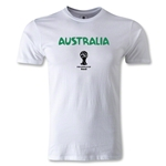 Australia 2014 FIFA World Cup Brazil(TM) Men's Fashion Core T-Shirt (White)