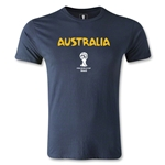 Australia 2014 FIFA World Cup Brazil(TM) Men's Premium Core T-Shirt (Navy)