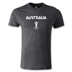 Australia 2014 FIFA World Cup Brazil(TM) Men's Premium Core T-Shirt (Dark Gray)