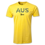 Australia 2014 FIFA World Cup Brazil(TM) Men's Fashion Elements T-Shirt (Yellow)
