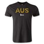 Australia 2014 FIFA World Cup Brazil(TM) Men's Fashion Elements T-Shirt (Black)