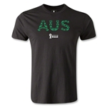 Australia 2014 FIFA World Cup Brazil(TM) Men's Premium Elements T-Shirt (Black)