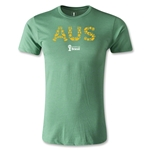Australia 2014 FIFA World Cup Brazil(TM) Men's Premium Elements T-Shirt (Heather Green)