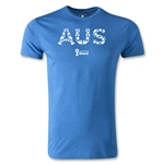 Australia 2014 FIFA World Cup Brazil(TM) Men's Premium Elements T-Shirt (Heather Royal)