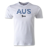 Australia 2014 FIFA World Cup Brazil(TM) Men's Premium Elements T-Shirt (White)