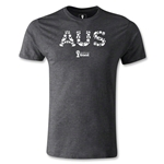 Australia 2014 FIFA World Cup Brazil(TM) Men's Fashion Elements T-Shirt (Dark Gray)