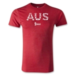 Australia 2014 FIFA World Cup Brazil(TM) Men's Fashion Elements T-Shirt (Heather Red)