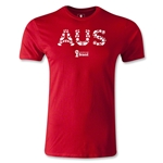 Australia 2014 FIFA World Cup Brazil(TM) Men's Fashion Elements T-Shirt (Red)