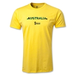 Australia 2014 FIFA World Cup Brazil(TM) Men's Fashion Palm T-Shirt (Yellow)