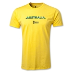 Australia 2014 FIFA World Cup Brazil(TM) Men's Premium Palm T-Shirt (Yellow)