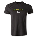 Australia 2014 FIFA World Cup Brazil(TM) Men's Fashion Palm T-Shirt (Black)