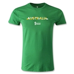 Australia 2014 FIFA World Cup Brazil(TM) Men's Fashion Palm T-Shirt (Green)