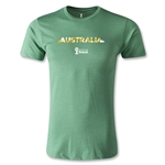 Australia 2014 FIFA World Cup Brazil(TM) Men's Premium Palm T-Shirt (Heather Green)
