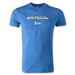 Australia 2014 FIFA World Cup Brazil(TM) Men's Fashion Palm T-Shirt (Heather Royal)