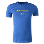 Australia 2014 FIFA World Cup Brazil(TM) Men's Fashion Palm T-Shirt (Royal)