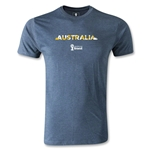 Australia 2014 FIFA World Cup Brazil(TM) Men's Premium Palm T-Shirt (Blue)