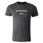 Australia 2014 FIFA World Cup Brazil(TM) Men's Premium Palm T-Shirt (Dark Gray)