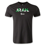 Iran 2014 FIFA World Cup Brazil(TM) Men's Premium Palm T-Shirt (Black)