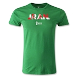 Iran 2014 FIFA World Cup Brazil(TM) Men's Premium Palm T-Shirt (Green)