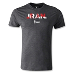 Iran 2014 FIFA World Cup Brazil(TM) Men's Premium Palm T-Shirt (Dark Gray)
