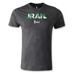 Iran 2014 FIFA World Cup Brazil(TM) Men's Fashion Palm T-Shirt (Dark Gray)