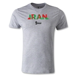 Iran 2014 FIFA World Cup Brazil(TM) Men's Premium Palm T-Shirt (Gray)