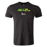 Brazil 2014 FIFA World Cup Brazil(TM) Men's Premium Palm T-Shirt (Black)
