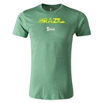 Brazil 2014 FIFA World Cup Brazil(TM) Men's Fashion T-Shirt (Heather Green)
