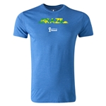 Brazil 2014 FIFA World Cup Brazil(TM) Men's Premium Palm T-Shirt (Heather Royal)