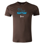 2014 FIFA World Cup Brazil(TM) Men's Premium All In One Rhythm T-Shirt (Brown)