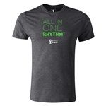 2014 FIFA World Cup Brazil(TM) Men's Premium All In One Rhythm T-Shirt (Dark Gray)