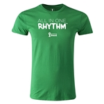 2014 FIFA World Cup Brazil(TM) Men's Fashion All In One Rhythm T-Shirt (Green)