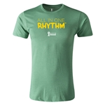 2014 FIFA World Cup Brazil(TM) Men's Fashion All In One Rhythm T-Shirt (Heather Green)