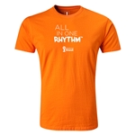 2014 FIFA World Cup Brazil(TM) Men's Premium All In One Rhythm T-Shirt (Orange)